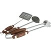 Charcoal Companion 3 Piece Football BBQ Tool Set
