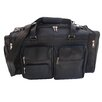 """Piel Leather 20"""" Leather Carry-On Duffel with Pockets"""