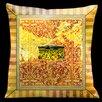 Lama Kasso Como Gardens  Aged Effect Microsuede Throw Pillow