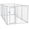 Jewett Cameron Lucky Dog™ Galvanized Box Chain Link Yard Kennel