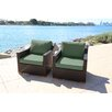 Bellini Home and Garden Marcelo Club Chair with Cushion (Set of 2)