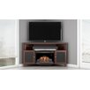 Furnitech Shaker TV Stand with Curved Electric Fireplace