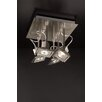 "PLC Lighting Square 8"" Semi Flush Mount"