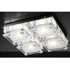 PLC Lighting Corteo 4 Light Semi Flush Mount