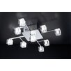 PLC Lighting D'oro 9 Light Semi Flush Mount