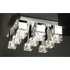 PLC Lighting Charme 9 Light Semi Flush Mount