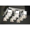 PLC Lighting Charme 9 Light Semi Flush Mount