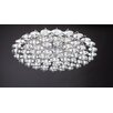 PLC Lighting Diamente 18 Light Semi Flush Mount