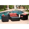 Abbyson Living Hampton 4 Piece Deep Seating Group with Cushions
