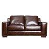 Abbyson Living Beverly Leather Loveseat