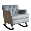 Abbyson Living Bluestone Rocking Arm Chair