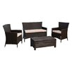 Abbyson Living Aden 4 Piece Deep Seating Group with Cushions