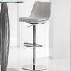 Bellini Modern Living Monte Carlo Adjustable Height Swivel Barstool with Cushion