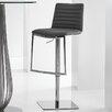 Bellini Modern Living London Adjustable Height Swivel Barstool with Cushion