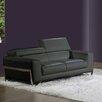 Bellini Modern Living Flynt Leather Loveseat