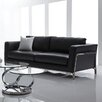 Bellini Modern Living Perch Leather Loveseat