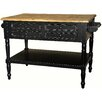 Casual Elements Shannon Kitchen Island with Wood Top