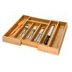 Honey Can Do Bamboo Expandable Drawer Organizer Tray