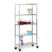Honey Can Do 5-Tier Shelving Unit with Casters