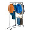 Honey Can Do Dual Bar Adjustable Garment Rack in Chrome