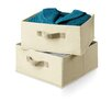 Honey Can Do Two Pack of Drawers for Hanging Organizer in Natural