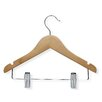 Honey Can Do Kid'S Basic Hanger with Clips in Maple (10 Pack)