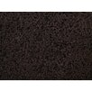 L.A. Rugs Shag Plus Dark Brown Indoor Area Rug