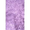 L.A. Rugs Silky Shag Lavender Indoor Area Rug