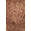 L.A. Rugs Silky Shag Brown Indoor Area Rug