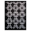 L.A. Rugs Touch Black/White Indoor Area Rug