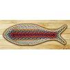 Earth Rugs Rainbow 2 Fish Shaped Rug