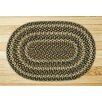 Earth Rugs Ebony/Ivory/Chocolate Braided Area Rug