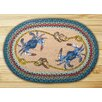 Earth Rugs Blue Crab Printed Area Rug