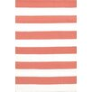Dash and Albert Rugs Catamaran Red / White Striped Indoor / Outdoor Area Rug