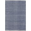 Dash and Albert Rugs Herringbone Hand Woven Blue Area Rug