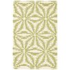 Dash and Albert Rugs Aster Hooked Green Area Rug