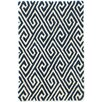 Dash and Albert Rugs Fretwork Tufted Blue Area Rug