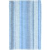Dash and Albert Rugs Ticking Woven Cotton Sky Blue Area Rug