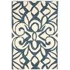 Dash and Albert Rugs Chandelier Wool Micro Hooked Ivory/Ink Blue Area Rug
