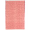 Dash and Albert Rugs Herringbone Woven Cotton Coral Area Rug