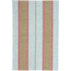 Dash and Albert Rugs Ticking Hand Woven Blue Area Rug