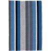 Dash and Albert Rugs Midnight Stripe Woven Cotton Area Rug