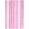 Dash and Albert Rugs Ticking Woven Cotton Pink Sand Area Rug