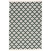 Dash and Albert Rugs Samode Hand Woven Green/White Indoor/Outdoor Area Rug