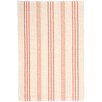 Dash and Albert Rugs Skona Stripe Woven Cotton Ivory & Pink Area Rug