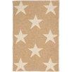 Dash and Albert Rugs Star Hand Woven Beige/White Indoor/Outdoor Area Rug