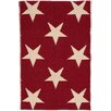 Dash and Albert Rugs Star Hand Woven Red/White Indoor/Outdoor Area Rug