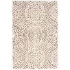 Dash and Albert Rugs Temple Wool Micro Hooked Taupe/Ivory Area Rug