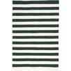 Dash and Albert Rugs Trimaran Stripe Pine/Ivory Indoor/Outdoor Area Rug