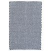 Dash and Albert Rugs Two-Tone Rope Blue/White Indoor/Outdoor Area Rug